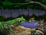 A Flight Snack by zharazi, Contests->Draw a Frog gallery