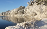 Robbins Pond Winter by Tomeast, photography->nature gallery