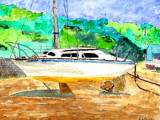 waiting to go to sea by alby58, Illustrations->Traditional gallery
