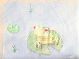 the dancing frog by tbhockey, Contests->Draw a Frog gallery