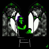 The Ghoulette by the Gothic Windows by Jhihmoac, illustrations->digital gallery