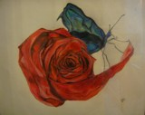 Simply Blue and Rose (possibly not so simple) by blithe16, illustrations->traditional gallery