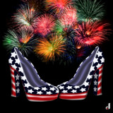 Patriotic Pumps by Jhihmoac, illustrations->digital gallery