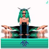 Cynd1Katt - Aqua by Jhihmoac, illustrations->digital gallery