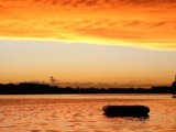 Acid orange sky with wall clouds by path, photography->sunset/rise gallery