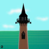 The Lighthouse at Haunted Point Too by Jhihmoac, illustrations->digital gallery