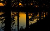 Sunset at the forest lake by SEFA, photography->sunset/rise gallery