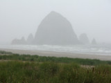 haystack rock in the mist and rain by jeenie11, Photography->Shorelines gallery