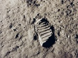 Moon Bootprint by Crusader, space gallery
