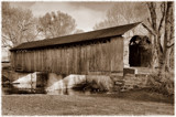 Mull Covered Bridge in Sepia by Jimbobedsel, Photography->Bridges gallery