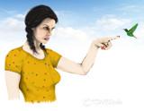 Hummingbird watcher by vangsdesign, illustrations->digital gallery