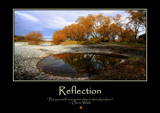 Reflection Poster by LynEve, photography->landscape gallery
