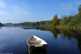 Early autumn lake and boat by krx, photography->water gallery