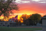 Baseball, Sunset & Old Glory by kidder, Photography->Sunset/Rise gallery