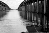 The Atchafalaya Basin Bridge by LakeMichigan, contests->b/w challenge gallery