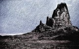 Shiprock Sketch by snapshooter87, photography->manipulation gallery