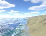 Sandy Beach by bourdett, Computer->Landscape gallery