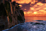 Cliffside Sunset by ryzst, Computer->Landscape gallery
