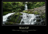 Waterfall Poster by LynEve, photography->general gallery