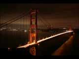 Golden Gate Bridge At Night by regalfoot, Photography->Bridges gallery