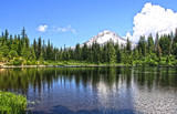 Mt. Hood from Mirror Lake by auroraobers, photography->mountains gallery