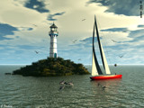 Sailing with dolphins by Junglegeorge, Computer->3D gallery
