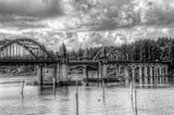 The Clouds, The Bridge, And The Estuary by gr8fulted, contests->b/w challenge gallery