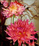 Sculpture with Dahlias by trixxie17, photography->flowers gallery
