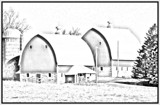Twin Barns: Pencil Version by Starglow, photography->manipulation gallery