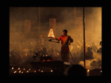 Aarti on the Ganges in Varanasi - part 3 by silicon, Photography->People gallery
