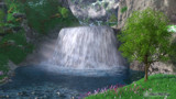 Cwm Waterfall by Akeraios, computer->landscape gallery