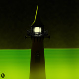 The Lighthouse at Haunted Point by Jhihmoac, illustrations->digital gallery