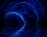 Goodnight Blue by Lightning, abstract gallery