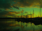 Masts and Light by busybottle, Photography->Sunset/Rise gallery