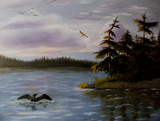 Lake of the Loon by mesmerized, illustrations->traditional gallery