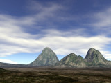 The Three Lone Mountains by timw4mail, computer->landscape gallery