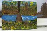 Van Victor 37 - Trees, bridge and water by rotcivski, illustrations gallery