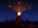 Christmas Volcano by vladstudio, Holidays->Christmas gallery