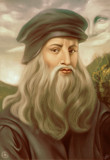 Leonardo da Vinci Portrait Painting by DannyKojimaArt, illustrations->digital gallery