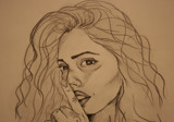 Shhhh by soosool, Illustrations->Traditional gallery