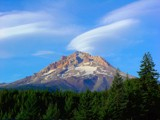 Mt. Hood cloud cap by gr8fulted, Photography->Mountains gallery