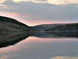 Mid Wales Dam Sunset... by redfish0