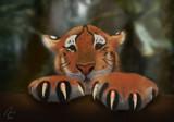 Tiger Cub (Digital Painting) by artytoit, illustrations->digital gallery