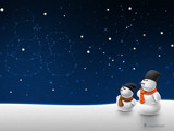 Snow man snow child by vladstudio, Holidays->Christmas gallery