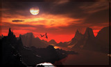 Dragons Evening by Foxfire66, Computer->Landscape gallery