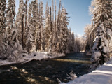 Winter on Bumping River by DigiCamMan, photography->landscape gallery