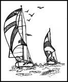 Sailing: A Pen and Ink Drawing by verenabloo, illustrations->traditional gallery