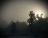 Windmill in Fog by martinah4, photography->mills gallery