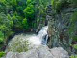 Linville Falls from Above by Pistos, photography->waterfalls gallery