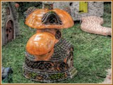 Faerie Garden - Toadstool House by trixxie17, photography->sculpture gallery